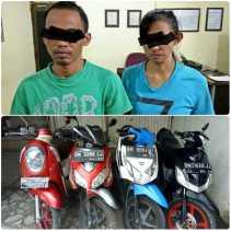 Ini Pasangan Suami Istri Pencuri Sepeda Motor di Pekanbaru