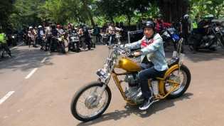 Jokowi Touring Pelabuhanratu Naik Chopperland
