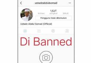Akun Instagram Ustaz Abdul Somad Di-Banned
