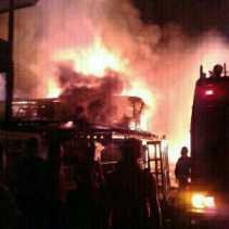 Pasar Lubuk Jambi Kuansing Terbakar, 17 Ruko Hangus