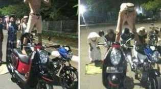 Posting Sholat Foto Salat di Atas Motor di Facebook, 6 Remaja Berurusan Dengan Polisi