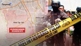 Tiga terduga Teroris Bom Tangsel Tewas diLumpuhkan Densus 88
