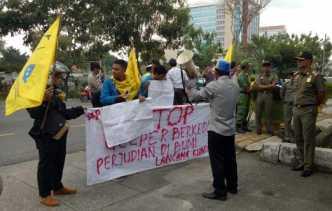 PMII Demo Minta Pemko Segera Tutup Gelanggang Perjudian