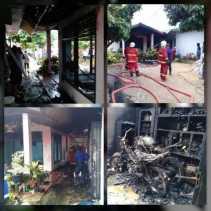Kebakaran di Siang Bolong Hari Lebaran Hanguskan Rumah dan 2 Unit Kendaraan