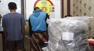 Penangkapan Tersangka peredaran narkotika jenis ganja dari Aceh