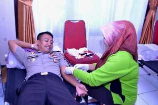 Kegiatan donor darah HUT SATPAM ke 36 di Siak