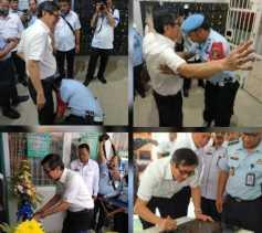 Reaksi Menteri Hukum dan HAM Yasonna Laoly Ketika Digeledah Petugas saat Blusukan ke Lapas Klas II A