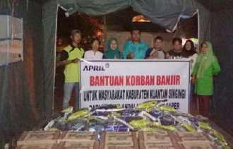 Bantu Korban Banjir Kuansing, RAPP Titipkan 1,5 Ton Beras dan 100 Kardus Mi Instan pada Tiga Pihak