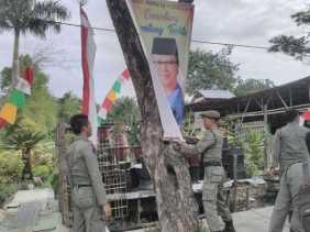 Satpol PP Riau Sebut Tak Punya Anggaran Tertibkan APK Calon Gubernur