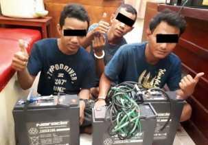 Polisi Tangkap 3 Pencuri Baterai Tower di Tenayan Raya