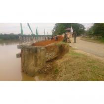 Goro Warga dan TMMD, Timbun Tanah Lantai Turap dan Tribun yang Ambruk