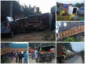 Sudah Sering Terjadi, Kecelakaan Beruntun Kali ini Libatkan 7 Kendaraan di Jembatan Air Godang Duri