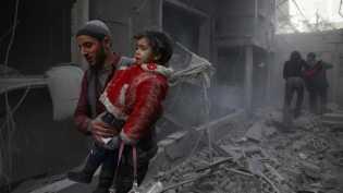 Ghouta Timur Dibombardir Rezim Suriah, Rusia Minta Sidang DK PBB
