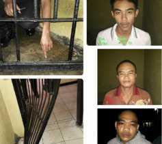 Menggergaji Terali, Tiga Tahanan Polsek Pasir Penyu Kabur