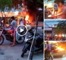 Diduga Modifikasi Tanki, Sepeda Motor Ini Terbakar Setelah Isi BBM di SPBU