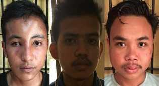 3 pemuda asal Kampar ditangkap setelah Lempar mobil polisi