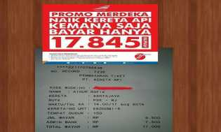 Promo Merdeka Dari PT.KAI Jelang HUT RI Ke 71
