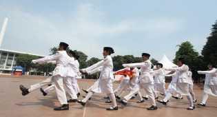Pengukuhan 38 Anggota Paskibra Peringatan HUT RI di Pangkalpinang