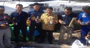 5 Orang Penyelundup Miras Dari Malaysia Di Tangkap