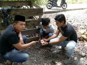 Lagi Asik Hisap Ganja di Pinggir Jalan, Pria di Sungai Apit Siak Diamankan Polisi