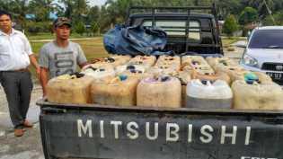 Polisi Amankan 560 Liter BBM Ilegal di Inhu