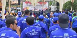 Kampanye Damai KPU Riau, Pendukung Firdaus-Rusli Tampak Paling Ramai