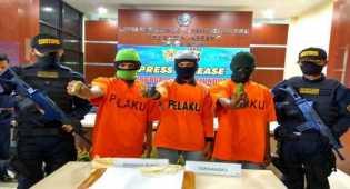 3 Pemasok Sabu dari Malaysia Ditangkap