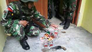 TNI Amankan Ganja, Pistol & Amunisi di Rumah Dinas Kehutanan Keerom, Papua