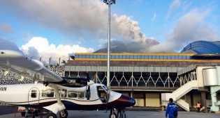 Aktivitas Gunung Gamalama Menurun, Bandara Ternate Dibuka