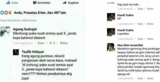 Berkomentar 'Dibohongi pake Surat Annisa ayat 3' Pria ini Diperiksa polisi