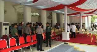 Kapolri dan Panglima TNI Gladi Bersih HUT ke-71 Kemerdekaan RI