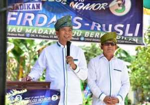 Dukungan Makin Bulat di Kabupaten/Kota, Firdaus-Rusli Semakin Optimis Menang