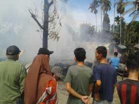 Kebakaran Hebat di Kapau Sari Pekanbaru Diselidiki Polisi