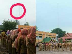 Apel Perdana di Dumai Tanpa Bendera Merah Putih