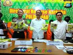 Lagi, Polda Riau Sita Narkoba Miliaran Rupiah Berbungkus Teh Cina, 7,5 Kg Sabu dan 5 Ribu Pil Ekstas