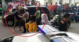 Aksi Oknum Anggota TNI Tinju Wajah Polisi