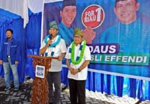 Firdaus-Rusli Effendi Optimis Jadikan Pekanbaru dan Kampar 'Lumbung' Suara
