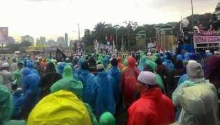 Aksi 212 Jilid II di Gedung DPR, Peserta Dapat Jatah Makan