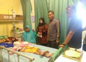 PWI dan P2TP2A Bantu Pasien Miskin Lasmini yang Terbaring di RSUD Bangkinang