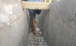 Baru Sepekan Diperbaiki, Parit Jalan Alhamra Duri Rusak