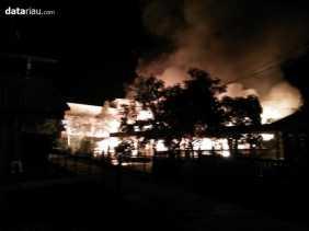 Tiga Rumah di Kampung Baru Meranti Ludes Terbakar