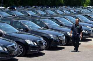 360 Unit Mobil Mewah Sambut Kedatangan Raja Salman Bali