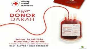 Grand Elite Hotel Bersama PMI Pekanbaru Akan Gelar Kegiatan Donor Darah