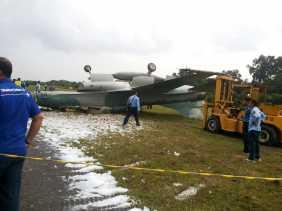 Jet Tempur Lanud Roesmin Nurjadin Tergelincir di SSK II Pekanbaru