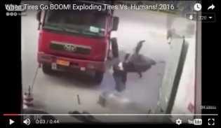 Video: Mengerikan, Isi Angin Ban Mobil Nyawa Jadi Taruhan