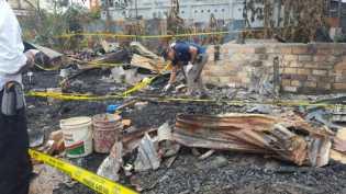 Tim Puslabfor Medan Olah TKP Kebakaran yang Sebabkan Ibu dan 2 Anak Tewas di Meranti