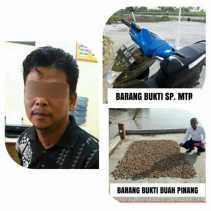 Pria Inhil Ini Merampas sepeda motor Milik Eko Dan Pinang 40 kilogram, Diringkus Polisi