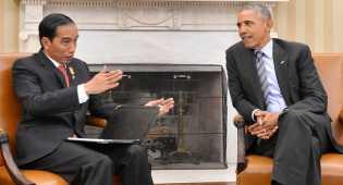 Obama Berikan Ucapan Selamat di Hari Kemerdekaan RI ke Presiden Jokowi