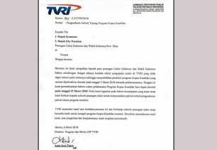 TVRI Sampaikan Permintaan Maaf ke Syamsuar-Edy Nasution