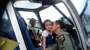 Ciuman Terakhir Untuk Putri AKP Safran Sebelum Pesawat M 28 Sky Truck Jatuh